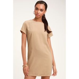 Beige shift dress